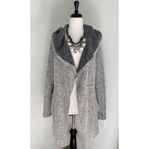 BNCI Blanc Noir's Tweed Open Front Jacket